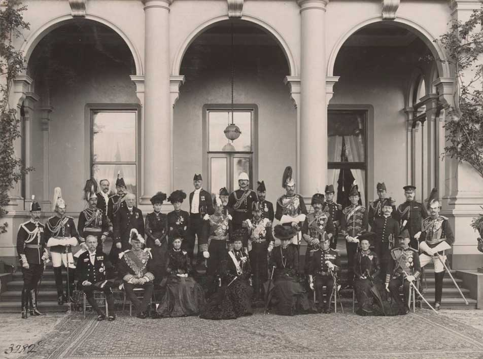 The royal household in a group photograph at Government House in 1901