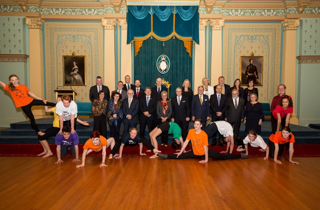 The Governor with European Union Ambassadors and Westside Circus performers