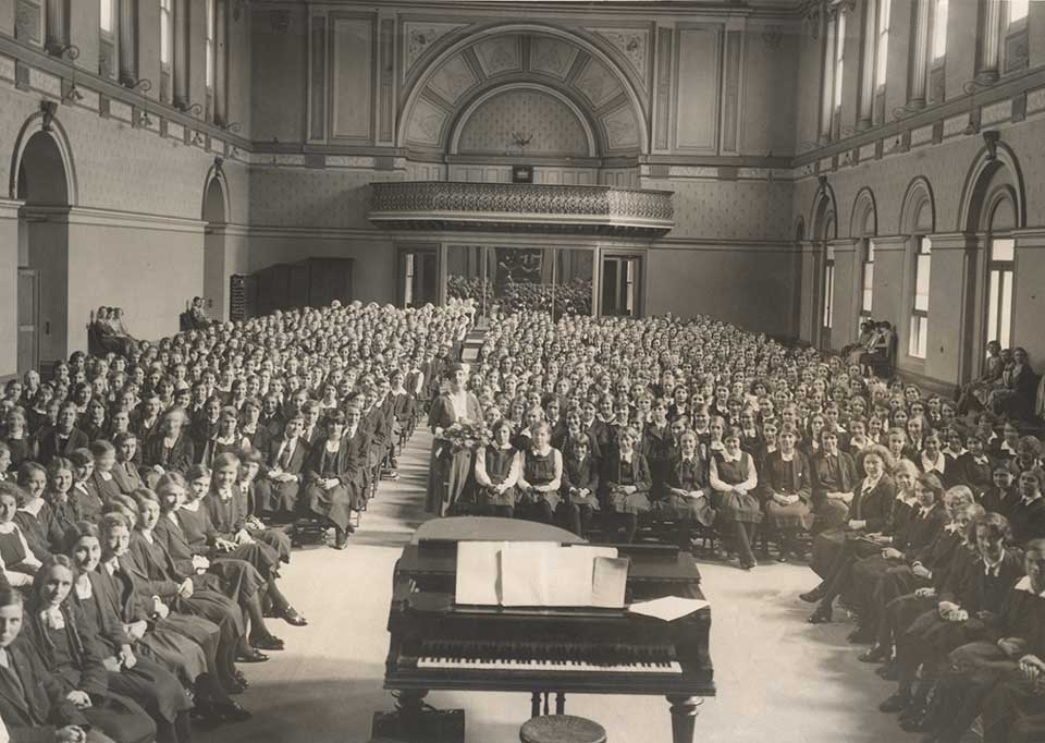 Melbourne Girls High School in the Ballroom 1932