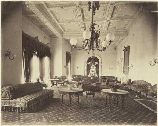 State Drawing Room 1878 - photo by Charles Nettleton, from National Library of Australia