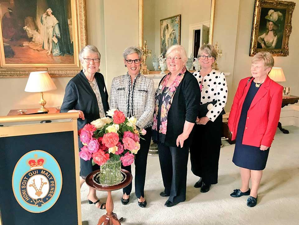 As Patron, welcoming members of the Rose Society of Victoria to Government House